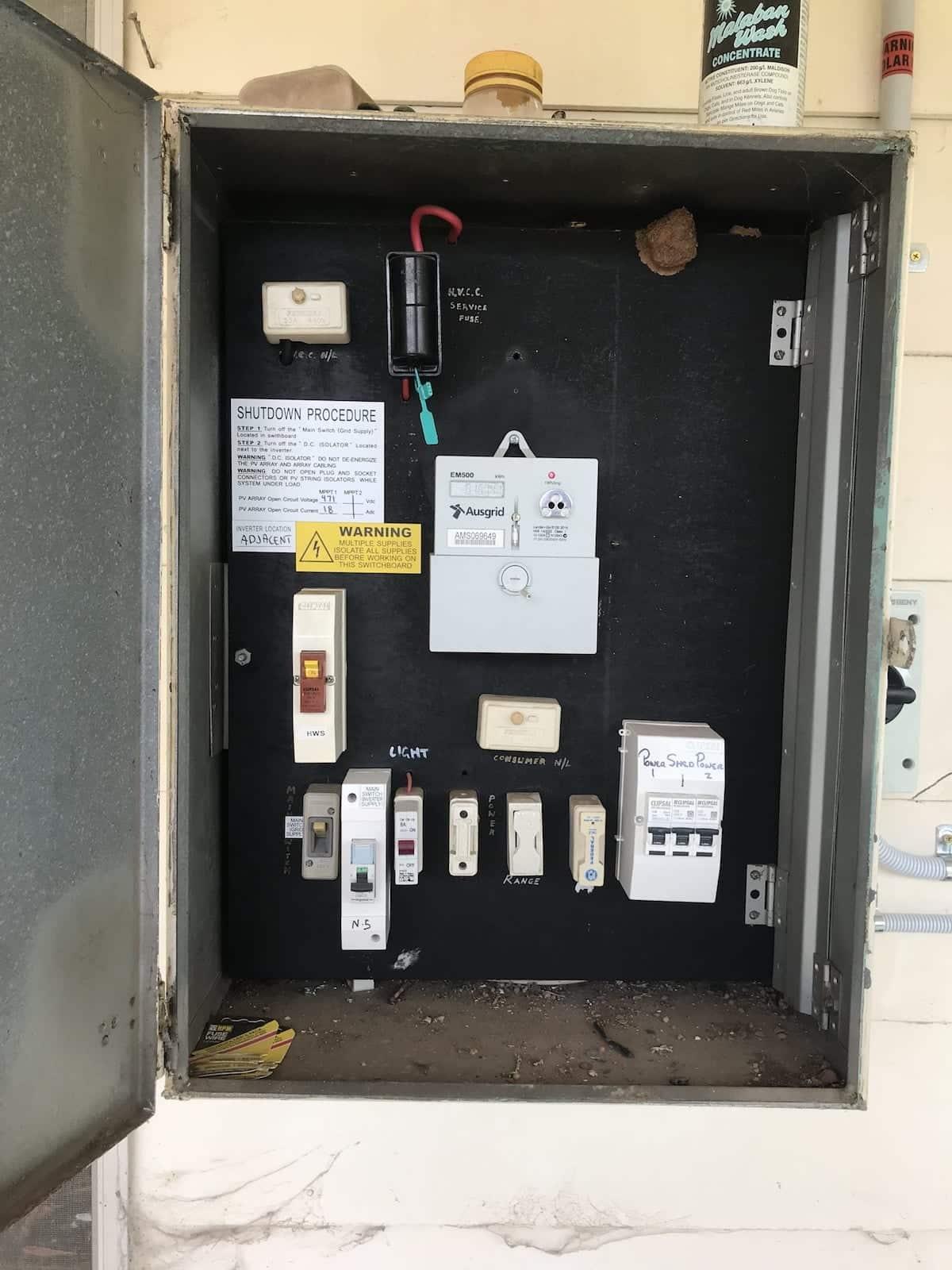 Billbird Aztech Solar Household Circuits Ausgrid