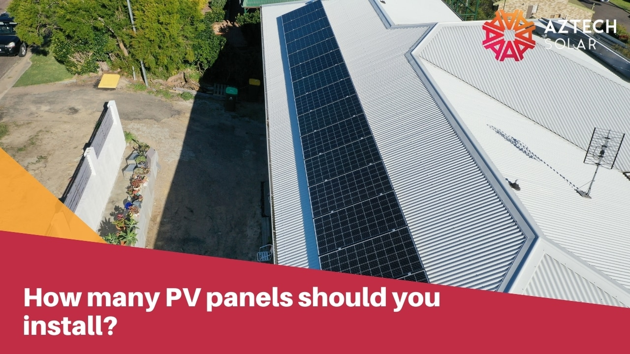 How many PV panels should you install?