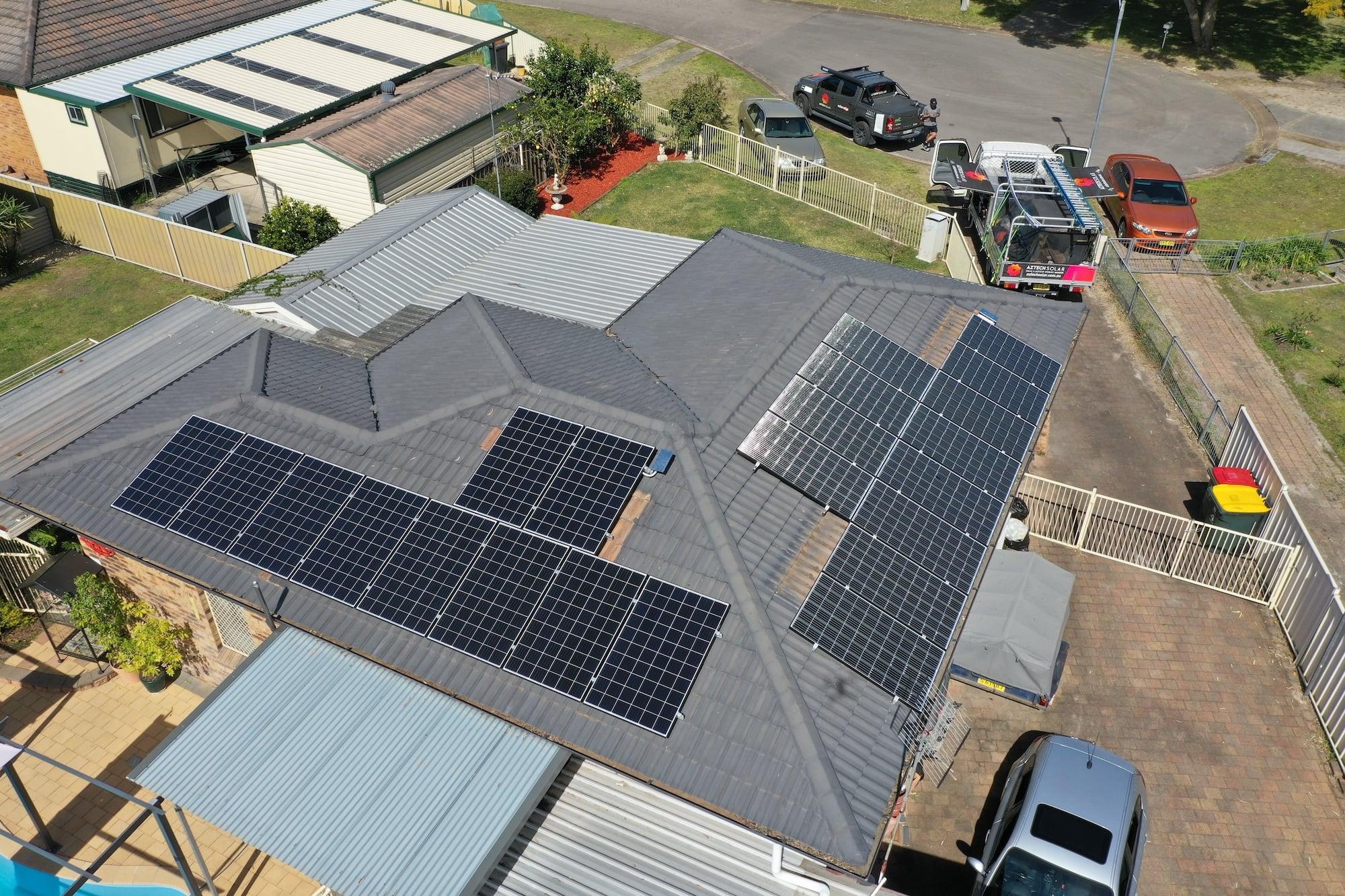 aztech solar panel installation_september 12
