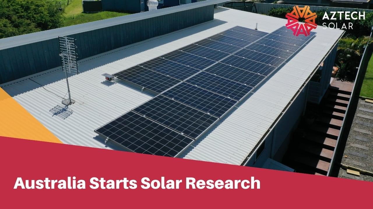 Australia Starts Solar Research